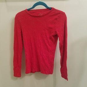 Plain red long sleeve tshirt
